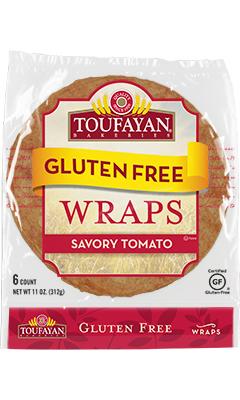 Toufayan Bakeries Gluten Free Savory Tomato Wraps