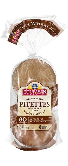 Toufayan Bakeries Whole Wheat Pitettes