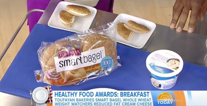 Toufayan Bakeries Smartbagels featured on the Today Show