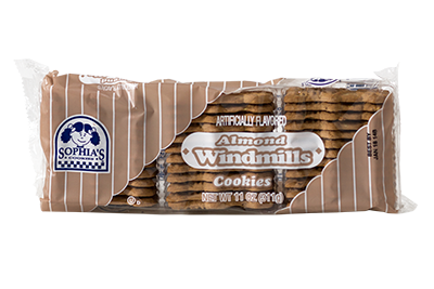 Sophias Almond Windmill Cookies