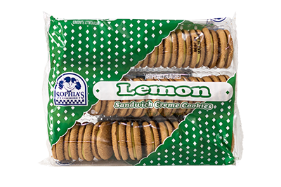 Sophias Lemon Sandwich Creme Cookies