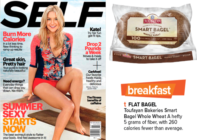 Toufayan Bakeries featured in Self Magazine