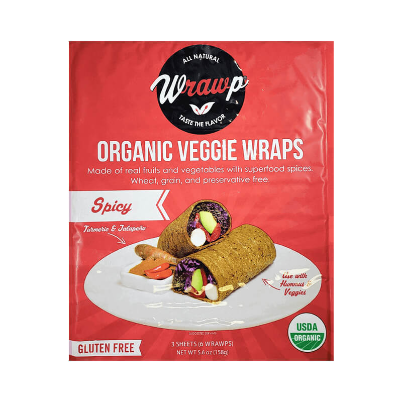 Wrawps Organic Vegetable Wraps Spicy Real Fruits Wheat