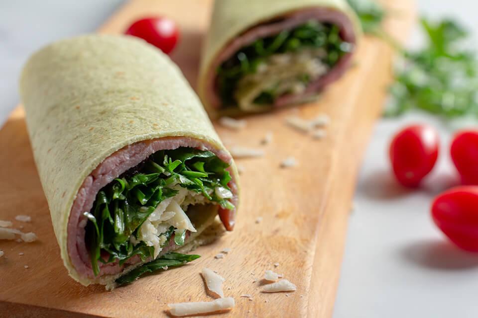 Toufayan Ham Arugula Parmesan Wrap